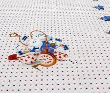 Stoff Jersey Bedruckt Bordüre Alice im Wunderland Hase Panel Baumwolle 22€/m
