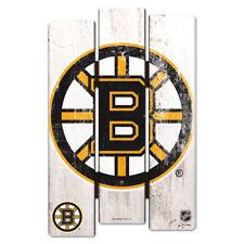 NHL Eishockey BOSTON BRUINS Wood Sign Holzschild Holz Fence