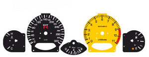 Custom speedometer instrument cluster gauge faceplate overlay Nissan Skyline R34