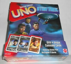 Star Trek UNO Family Card Game Special Edition Collectable Storage Tin 1999