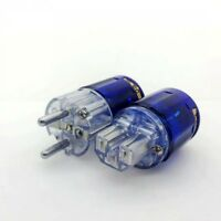 Set EU Plated Rhodium C-037 +P-037E Schuko Power IEC Connector plug