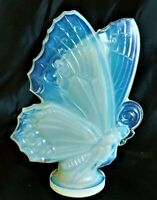 French Sabino Opalescent Glass 6  Butterfly Car Hood Ornament Mascot 1930s.