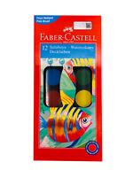 Faber-Castell Farbkasten Tuschkasten 12 Farben + Gratis Pinsel Neu