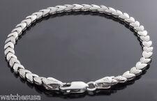 Vintage Tahirler .925 Sterling Silver Heart Tennis Bracelet 6.2g