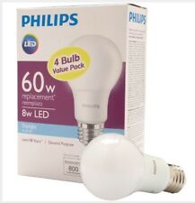 Philips 60W Equivalent Daylight A19 LED Light Bulbs (4-Pack QTY 4); 16 Bulbs