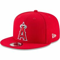 Los Angeles Angels New Era Team Color 9FIFTY Snapback Hat - Red