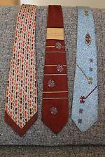 3 Vtg 1940s Mens Ties Neckties Pilgrim Arrow Hollyvogue RockAbilly Prints Lot L