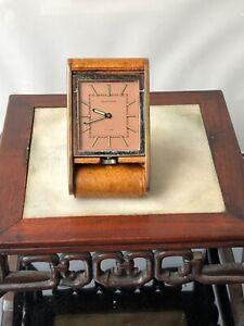 Vintage ado 8 days jaeger lecoultre dial desk clock /pendulette Jaeger Lecoultre