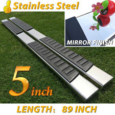 "For 07-18 Silverado/Sierra Crew Cab 5"" Nerf Bar Running Board Side Step Chrome H"