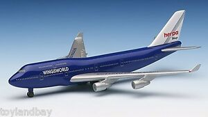 Herpa 511018 WingsWorld 1997 Limited Edition Boeing 747-400 1:500 Scale Mint
