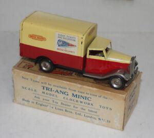 "RARE POST WAR TRI-ANG MINIC 107M ""BRITISH RAILWAYS"" DELIVERY VAN WITH BOX KEY"