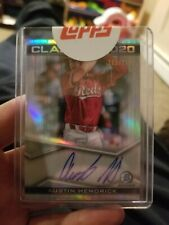 New Listing2020 Bowman Draft Chrome Class of 2020 Austin Hendrick Refractor Auto /250 Reds