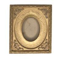 """Vintage Gilt Gold Ornate Photo Frame Plaster Gesso Standing Easel Frame 7.25"""""""