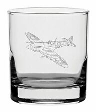 Traditional Whisky Glass With Spitfire Design