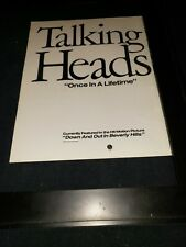 Talking Heads Once In A Lifetime Rare Original Radio Promo Poster Ad Framed!