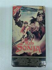 Red Sonja CBS Fox VHS Tape HI FI Red Label (d32)