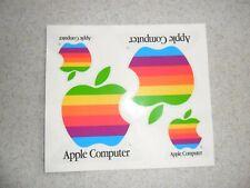 Vintage Apple Rainbow Sticker Set