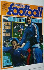 RARE MIROIR FOOTBALL N°304 1977 EUROPE SEC BASTIA RC LENS FRANCE-BULGARIE POSTER