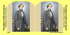 President Jefferson Davis Confederat Civil War SV Stereoview Stereocard 3D 23852