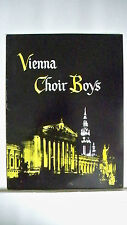 Vienna Choir Boys Souvenir Program Concert S. Hurok Presents 1956-1957 Season