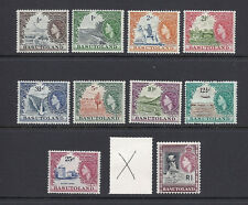 BASUTOLAND 1961-63 QEII defintives (SG 69-79 SHORT 78) F/VF MLH