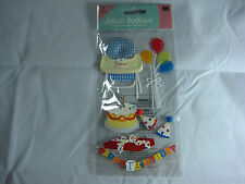 "Jolee's Boutique ""Birthday"" First Birthday - 7 pcs Dimensional Stickers #T3"