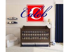 "Name Monogram Wall Decal Boys Block Letter Nursery Room Vinyl Wall  30""x16"""