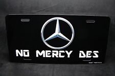 MERCEDES LICENSE PLATE TAG FOR CARS AND SUV'S METAL ALUMINUM