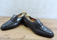 Crockett & Jones Men's Grey Black Penny Loafers - UK 7.5 E  US 8.5 E  EU 41.4 E