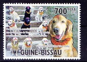Guinea Bissau 2010  MNH, Holy Animals of India, Worship of dogs, Kukur Puja