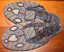 Antique African Yoruba Tribe Beaded Noble Man's Bata Ileke Shoes Nigeria, Africa