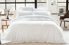 Sheridan Arlo White Tailored Queen Bed Quilt Cover Pillowcases Set RRP $339.90