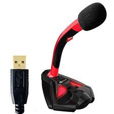Klim Microphone À pied USB pour ordinateur - Micro de bureau