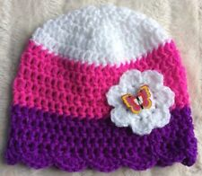 Unbranded Crocheted Striped Baby Caps & Hats