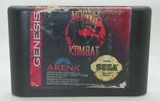 Sega Genesis Mortal Kombat Game Cartridge, Works R13278