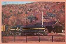 Rutland Railway 205 Beautiful Fall Foliage at Bartonsville Vt Train Postcard