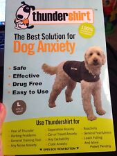 THUNDER SHIRT for DOG ANXIETY LARGE SOLID GRAY NEW