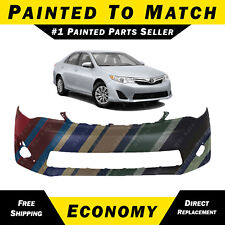 NEW Painted To Match - Front Bumper Cover Fascia 2012-2014 Toyota Camry XLE L E