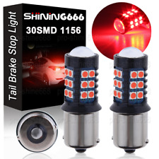2X Red 1156 BA15S 1651 5007 30SMD 3030 LED Brake Stop Tail Lights Taillight Bulb