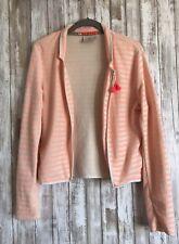 MAISON SCOTCH POUR LES BON VIVANTS Women's Beige Orange Tassel Blazer Jacket 2*