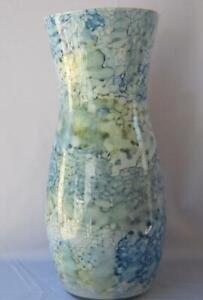 Genuine Italian Art Glass Vase 14 inch Franco Italy Pastel Blue No 697