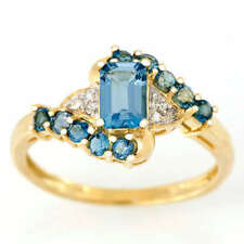 Handmade Topaz Yellow Gold Fine Rings