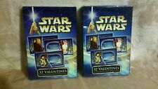 Htf 2002 Lucasfilm Star Wars Valentine's Day Card 32 Pack cards with 8 designs