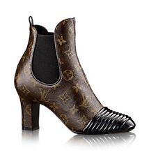 Louis Vuitton Brown Monogram NEW REVIVAL Ankle Boot Shoes 36, US 5.5