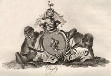 DIGBY. Coat of Arms. Heraldry 1790 old antique vintage print picture