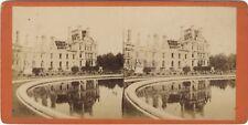 Palais des Tuileries ruines Côté jardin Paris Stereo Vintage Albumine ca 1871