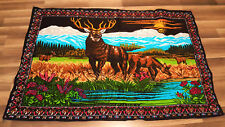 "Deer, wall hanging tapestry, 58""X39"" 100% cotton, NEW."