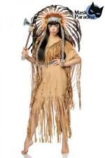 Sexy Indianerinkostüm: Native American beige Gr. S, M, L, XL