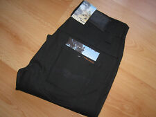 W34 L34 34/34 NUDIE jeans THIN FINN DRY BLACK COATED VERY RARE slim fit waxed