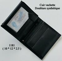 Porte Monnaie VANITY Porte Cartes cuir vachette //Porte Billets//CHL419 VIOLET